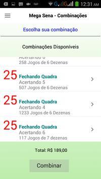 Mega Sena Combinações apk screenshot