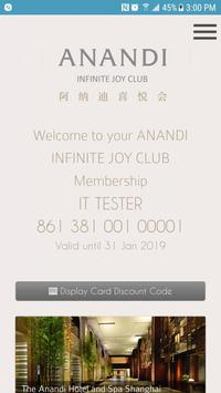 ANANDI INFINITE JOY CLUB poster