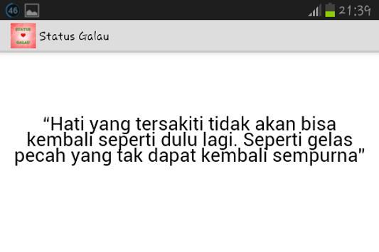 Status Galau apk screenshot