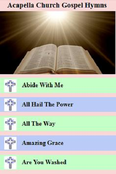 Acapella Church Gospel & Hymns poster