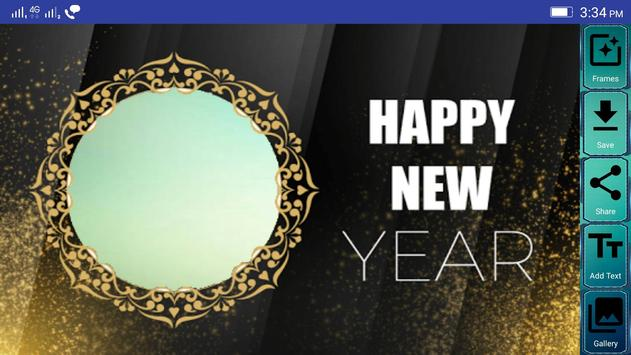 Happy New Year Photo Frames poster