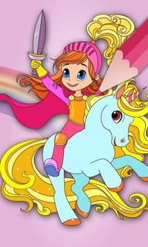 Magic unicorns coloring book - Draw and paint app screenshot 1