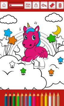 Magic unicorns coloring book - Draw and paint app screenshot 2