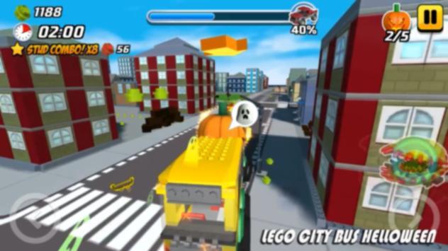 Hoggin LEGO City Bus Helloween poster