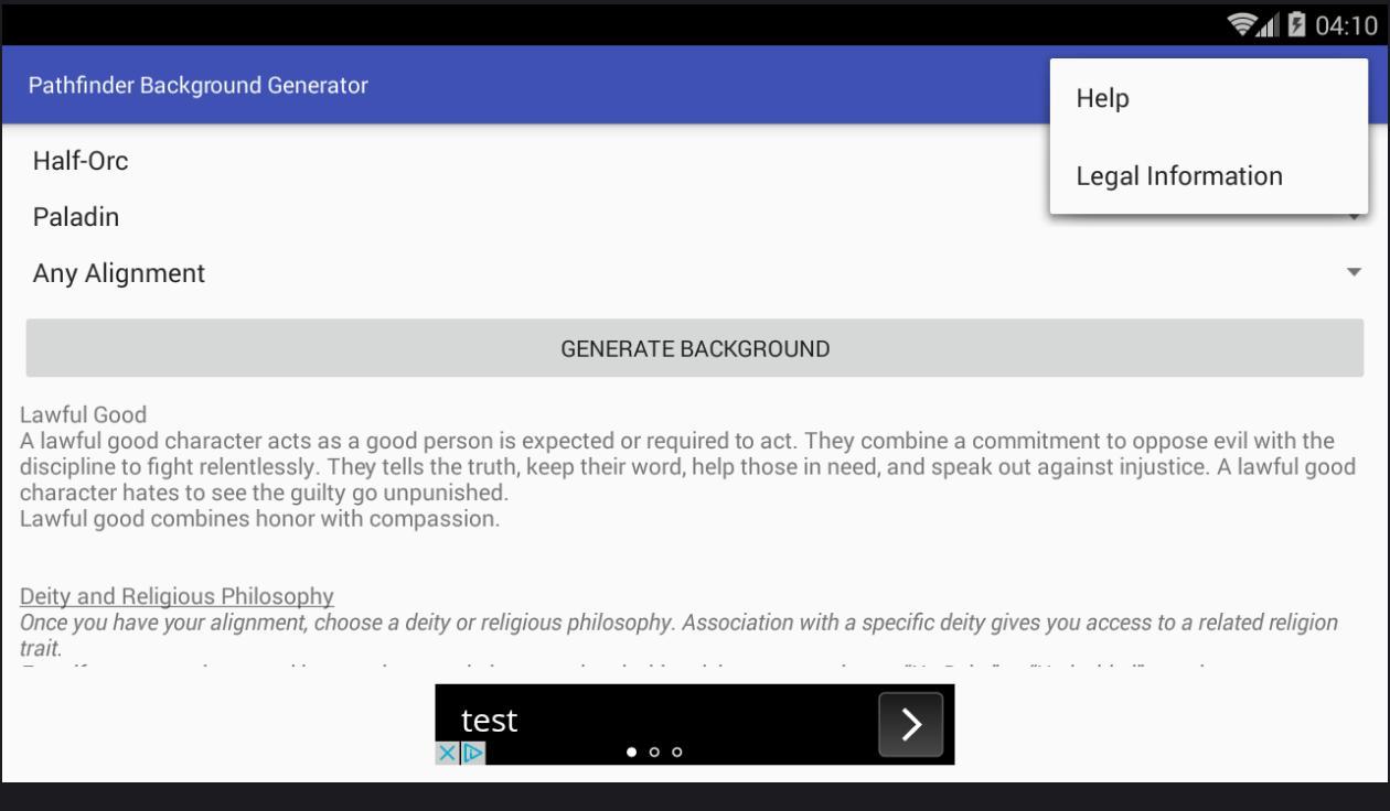 Pathfinder Background Generator pour Android - Téléchargez l'APK