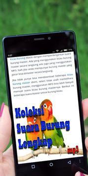 Koleksi Suara Burung Lengkap apk screenshot