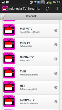 Indonesia TV Streaming screenshot 3