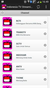 Indonesia TV Streaming screenshot 1