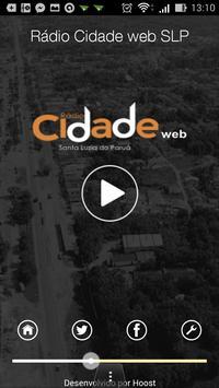 Rádio Cidade web SLP apk screenshot