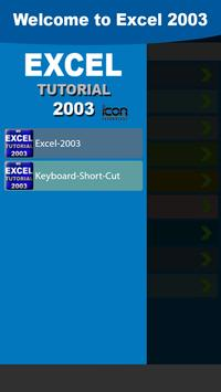 Excel 2003 Tutorial poster
