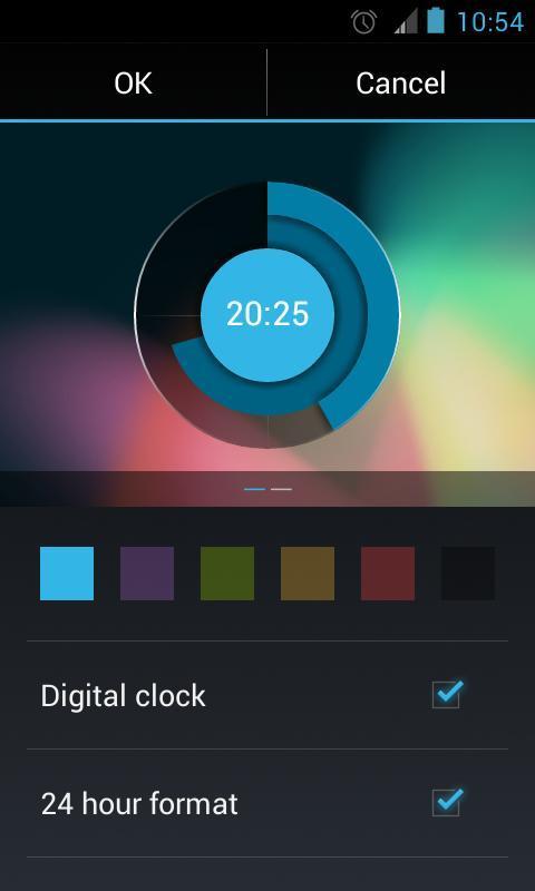 Screen 800 Fakeurl Type Holo Clock Widget Poster