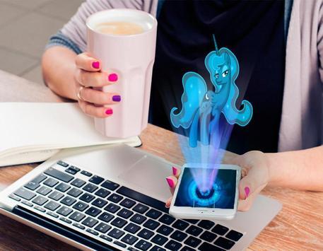 Hologram luna Pony Pocket poster