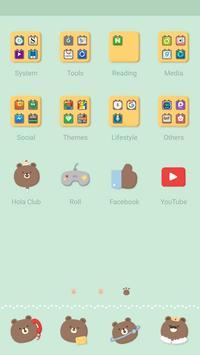 Cookie Bear - Hola Theme apk screenshot