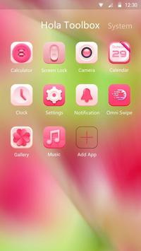 Minty Pink Hola Theme apk screenshot
