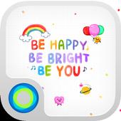 Happy Doodling Hola Theme icon