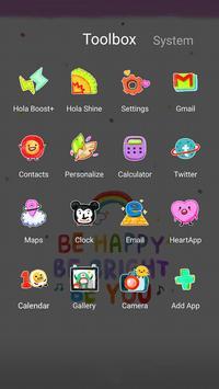 Happy Doodling Hola Theme apk screenshot