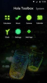 Glowing Wonder - Hola Theme apk screenshot