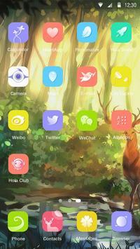 Deer Forest Hola Theme apk screenshot