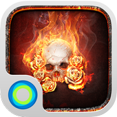 The Flame Skull-Launcher Theme icon