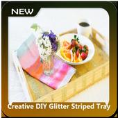 Creative DIY Glitter Striped Tray icon