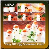 Easy DIY Egg Snowman Craft icon