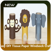 Easy DIY Tissue Paper Windsock Craft icon