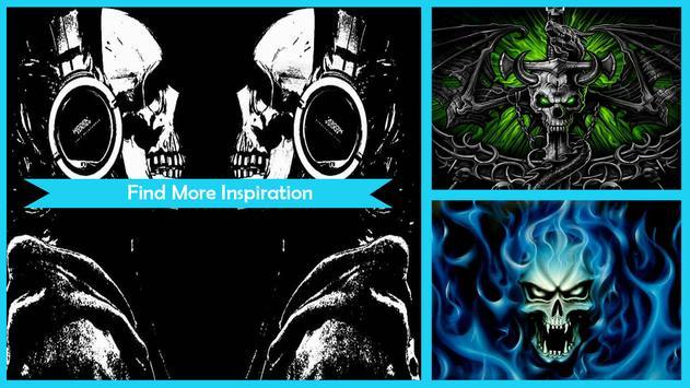 Skulls Live Wallpaper HD poster