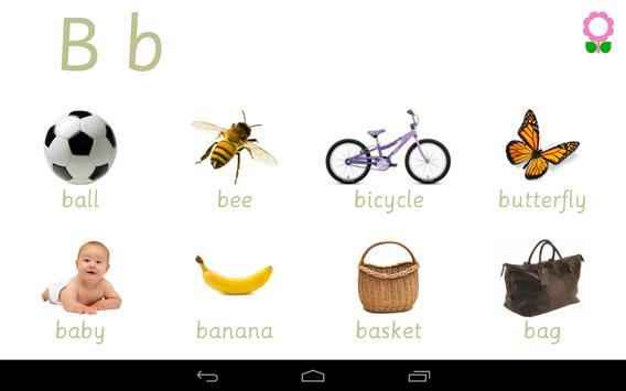 Alphabets Vocabulary Book screenshot 11