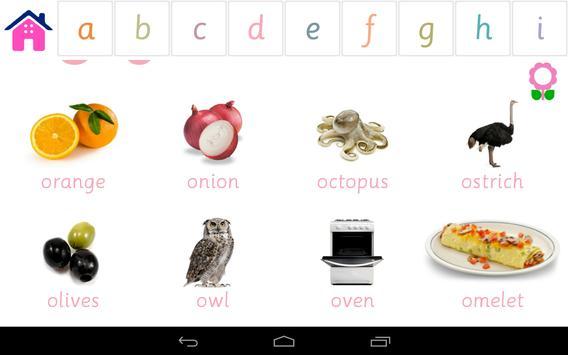 Alphabets Vocabulary Book screenshot 13