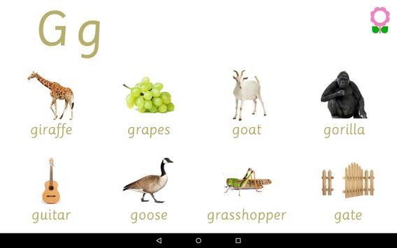 Alphabets Vocabulary Book screenshot 7