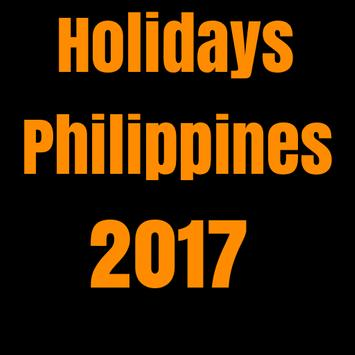 Holidays Philippines 2017 poster