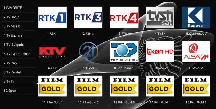 IPTV Shqip captura de pantalla 1