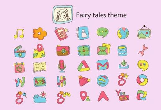 Fairy tales Theme apk screenshot