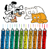 Cat and Dog Coloring Book Kid icon