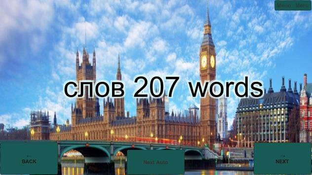 207 Russian and English words poster