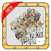 Home plan Blueprint icon