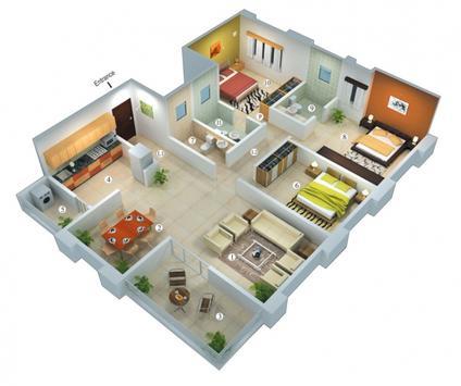 3D Home plans apk screenshot