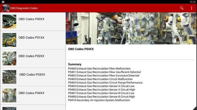 OBD Diagnostic Codes 2016 screenshot 1
