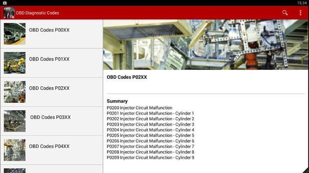 OBD Diagnostic Codes 2016 screenshot 2