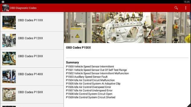 OBD Diagnostic Codes 2016 apk screenshot