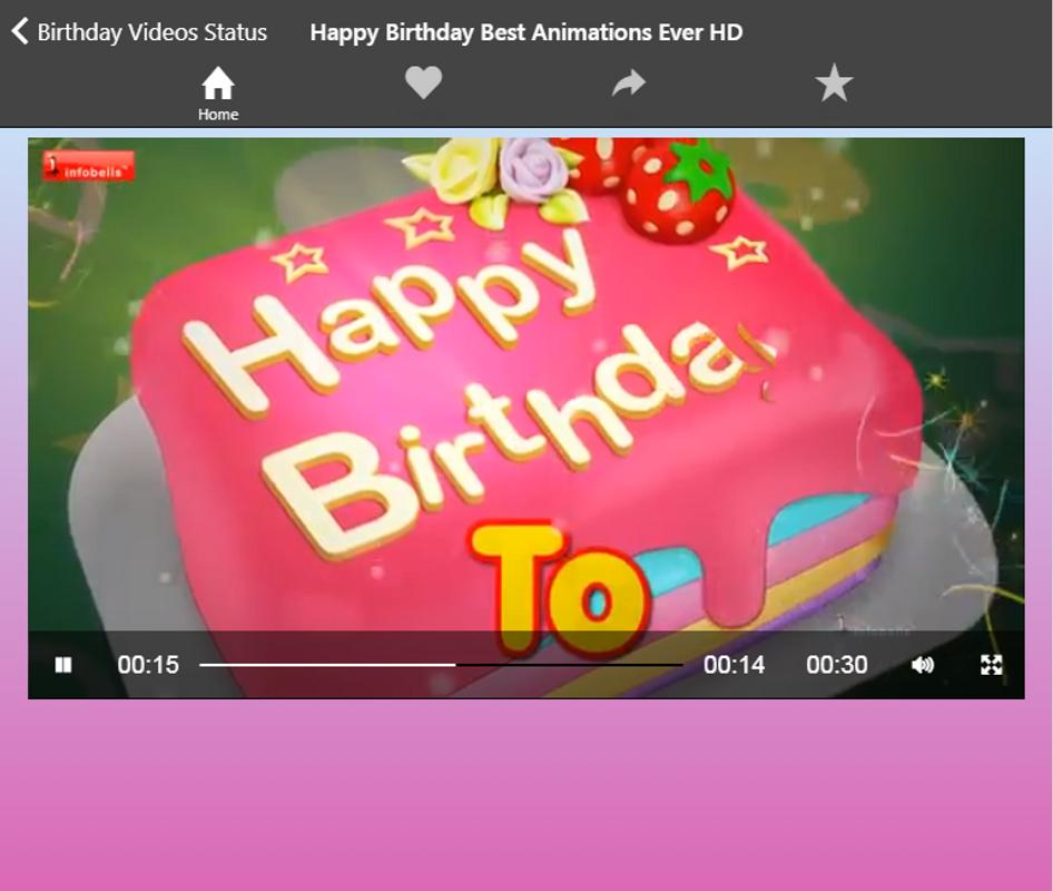 Happy Birthday Video Songs Status For Android Apk Download