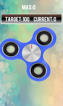 Fidget spinner free real hand game poster