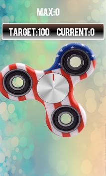 Fidget spinner free real hand game screenshot 2