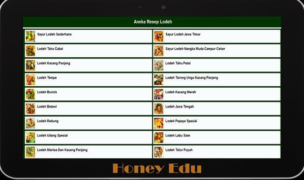 Resep Sayur Lodeh apk screenshot
