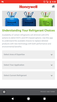 Refrigerant Selection Tool poster