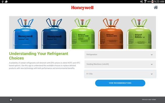 Refrigerant Selection Tool screenshot 2