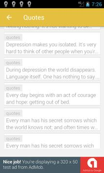 Quotes about Depression screenshot 1
