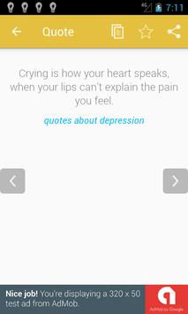 Quotes about Depression screenshot 2