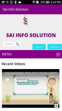 E-Learning Sai Infosolution poster