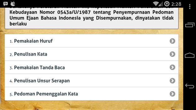 EYD dan Tata Bahasa Indonesia apk screenshot